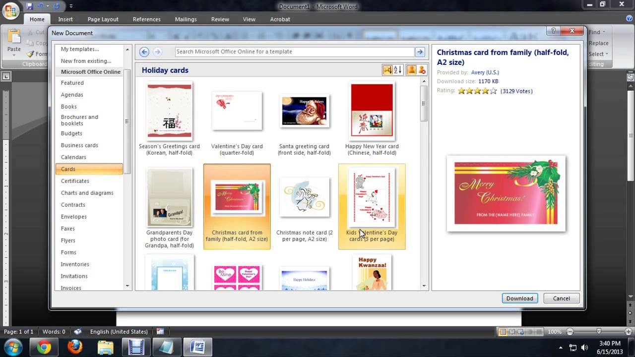 word 2013 templates download