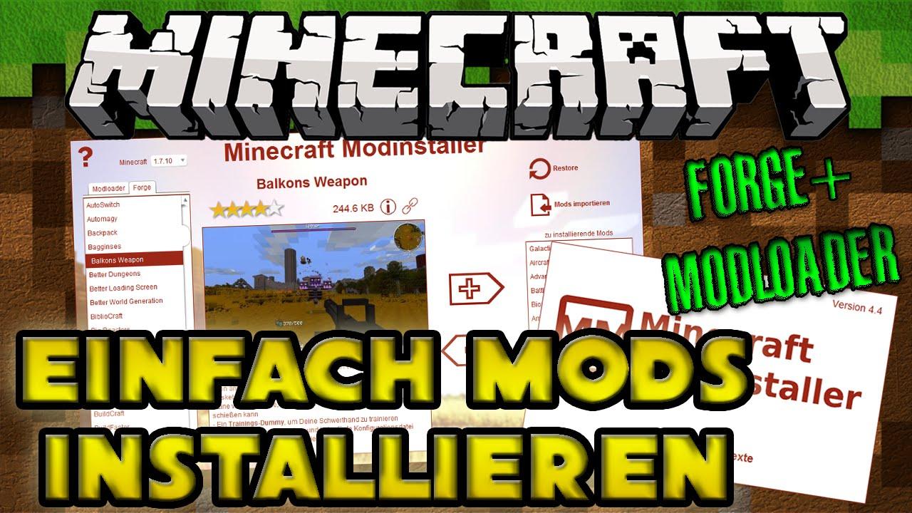 Minecraft Mods Installieren