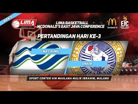 MA CHUNG VS UNAIR di LIMA Basketball McDonald's East Java Conference 2017 (Men's)