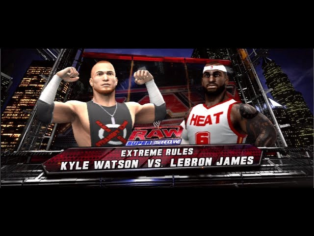 NBA 2K13 : RareSpark fights Lebron James? and hits him with a chair?! (WWE 13) Travel Video