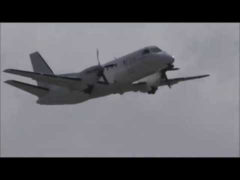 Saab 340B [Swedish Aircraft Holdings AB] Takeoff @ Hamburg Airport (EDDH)