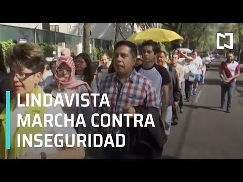 Vecinos de Lindavista marchan contra la inseguridad - Las Noticias