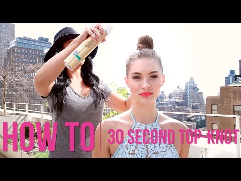 how-to:-30-second-top-knot-with-grace-elizabeth