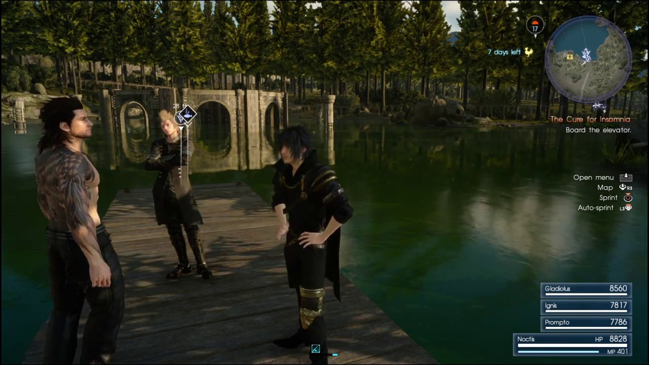 Final fantasy xv timed quest 5 fishing youtube for Final fantasy 15 fishing