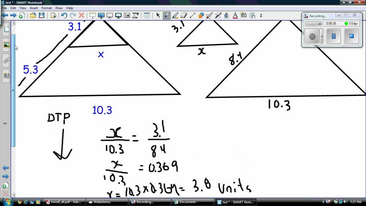 worksheet Similar Triangles And Proportions Worksheet similar triangles example youtube example