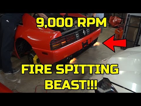 The MOST HATED FERRARI 348 SHOOTS FLAMES! DIY Major is COMPLETE? Pt 18