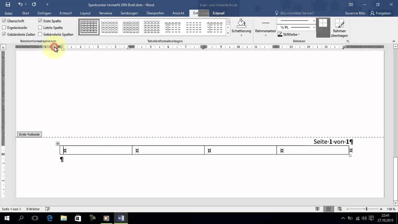 Word 2016 Einsteiger Umsteiger 20 Din Briefvorlage 5008 T1