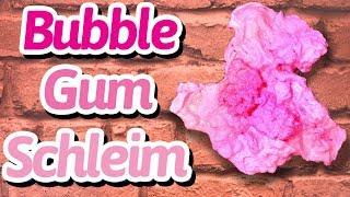 Bubble Gum Schleim - ausgespucktes Kaugummi - Crunchy Slime selber machen deutsch