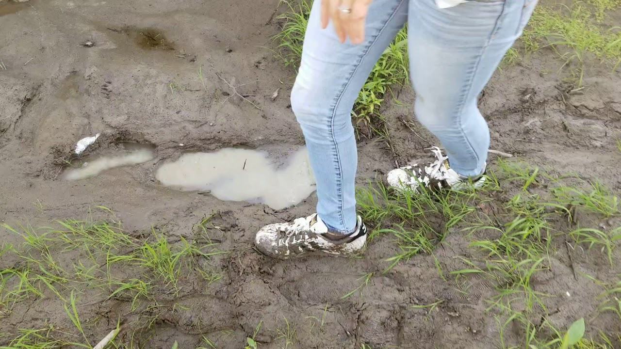 100% genuine lace up in quality design Falling and getting stuck in mud with Adidas superstar ...