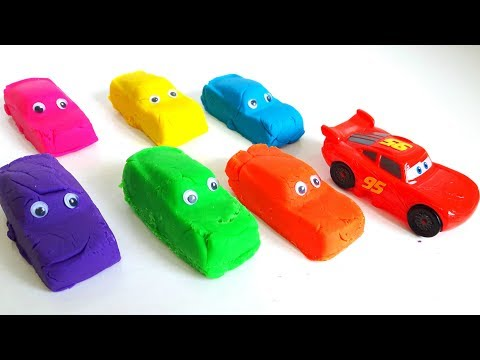 Thumbnail: Play Doh Cars Lightning Mcqueen Learn Colors for Kids Finger Family Song Nursery Rhymes