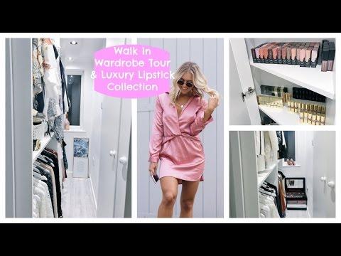 My Walk In Wardrobe; Closet Tour, HUGE Lipstick Collection, Luxury Closet & Dressing Room | EmTalks