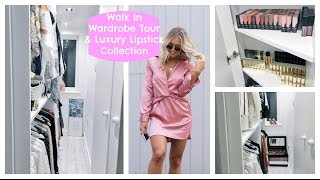 My Walk In Wardrobe; Closet Tour, HUGE Lipstick Collection, Luxury Closet & Dressing Room | EmTalks