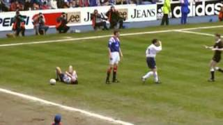 Rangers player jailed for assault, no booking.