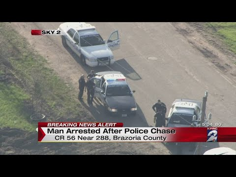 Man arrested after police chase in Brazoria County