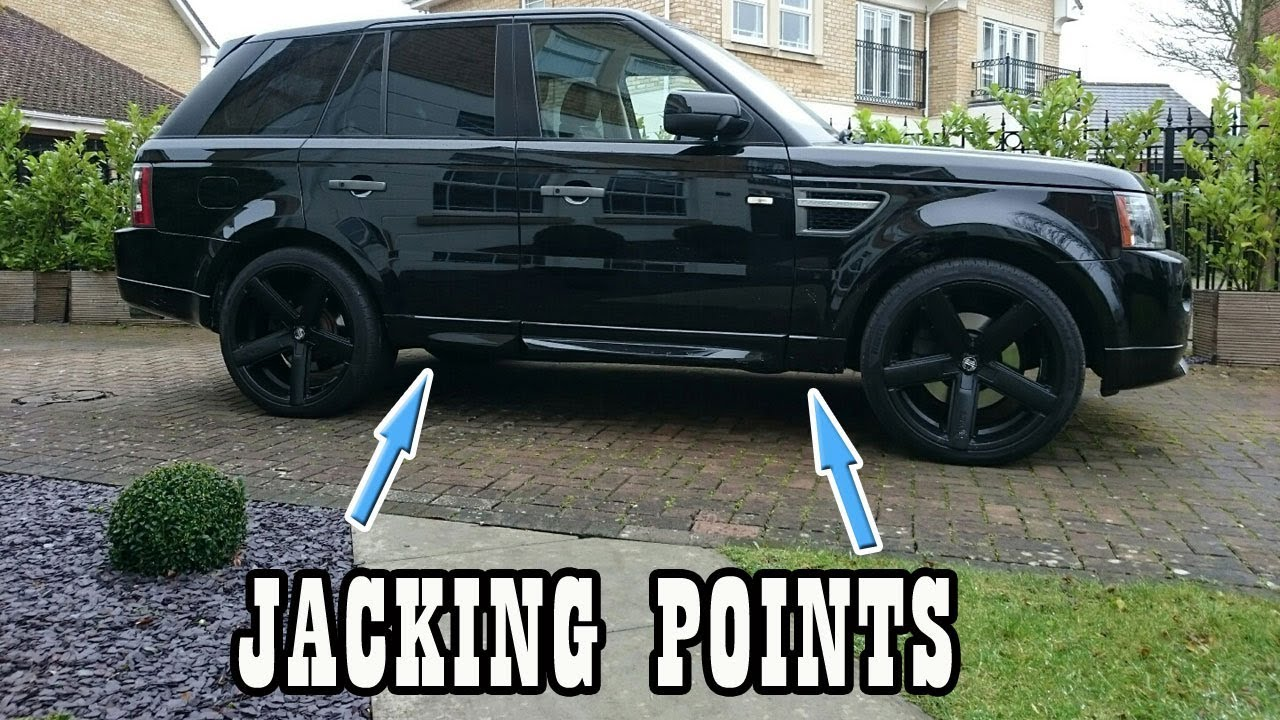 Where are the jacking points on a Range Rover Sport 2005 – 2013 (Trolley  Jack)?