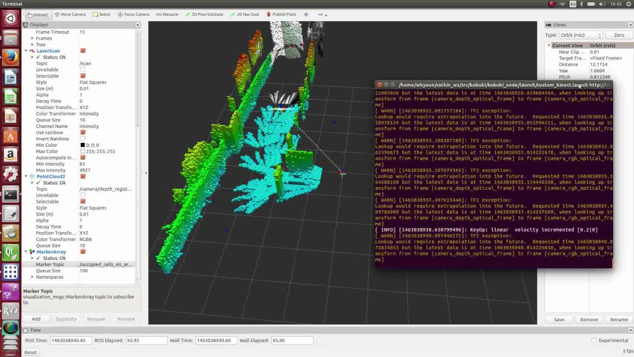 Robot 3D Mapping using a Kinect and an 3D Map (octomap)