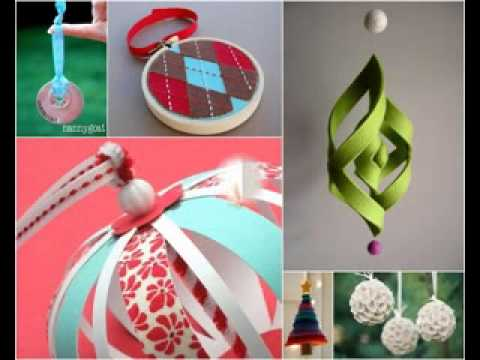 Simple diy christmas tree decorations ideas youtube Diy christmas tree decorations