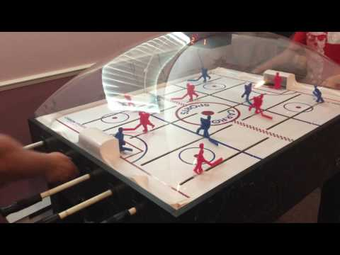 Carrom dome bubble hockey Father against Son - Part 2