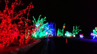Shady Brooks Farm Yardley PA Christmas Lightshow 2013 in 4k