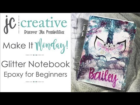 Glitter Notebook Epoxy For Beginners