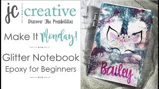 Glitter Notebook Epoxy For Beginners