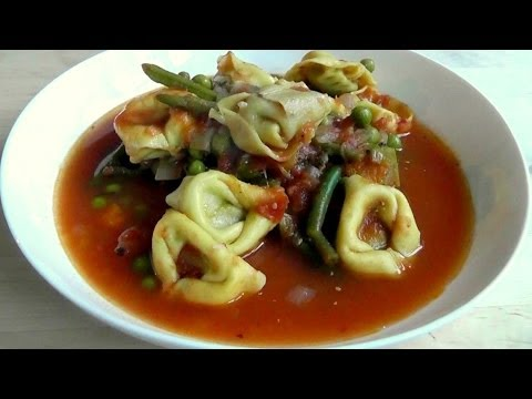 Tortillini Pasta & Vegetable Soup How to Cook recipe