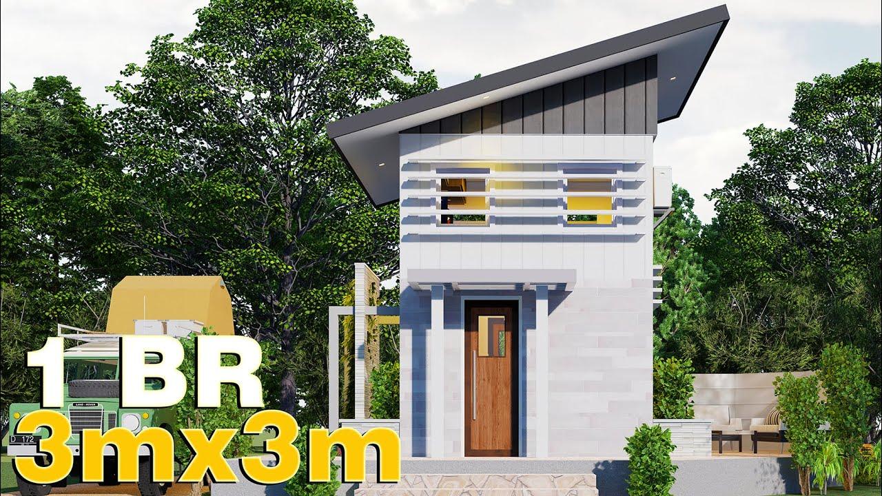 Small House Design w/ loft 3x3 (18 SQM) FULL PLAN