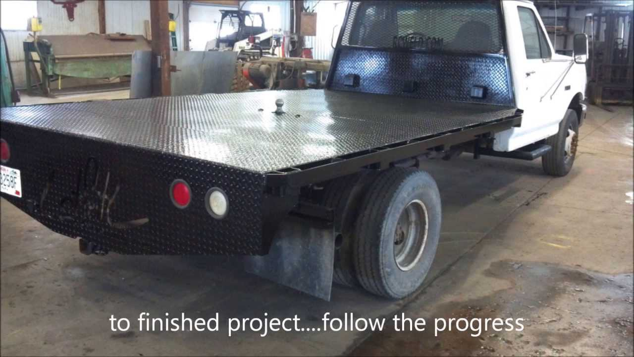 Custom Fabricated Diamond Plate Truck Flatbed With CNC Plasma Cut Lettering & Custom Fabricated Diamond Plate Truck Flatbed With CNC Plasma Cut ...