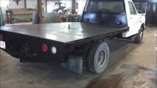 Custom Fabricated Diamond Plate Truck Flatbed With Cnc Plasma Cut Lettering