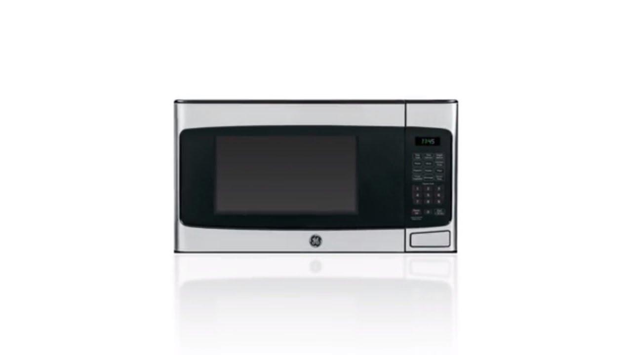 ge 1 1 cu ft 950 watt countertop microwave stainless steel
