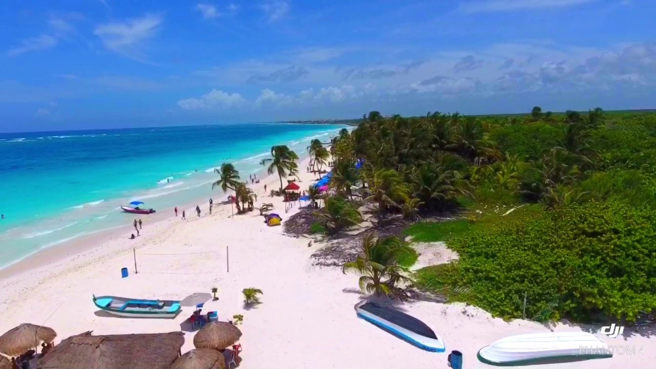 Der Schonste Strand Der Welt Ist In Tulum Drone Views Youtube