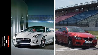 Drag race: Jaguar F-Type R Coupe AWD v BMW M6 Competition Package