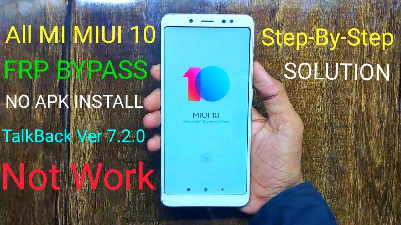 Mi Redmi Note 5 Pro FRP Bypass 8 1 Oreo | MIUI 10 | TalkBack Failed  Solution 7 2 0