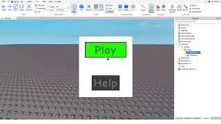 Roblox Studio Oyun menüsü yapımı Part 1