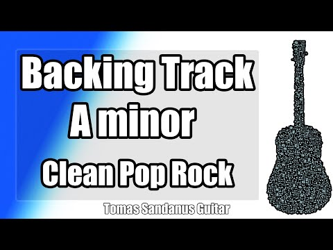 A minor Backing Track - Clean Pop Rock Style