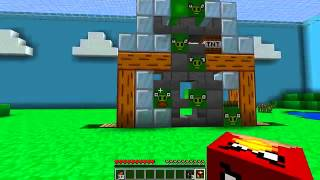 Minecraft Angry Birds   Pigs Don't Stand a Chance!