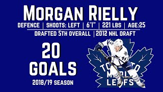 Morgan Rielly (#44) - ALL 20 Goals from the 2018/19 Season