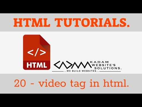 HTML TUTORIAL -20 Video Tag In Html | Loop,autoplay,mute,resize Video In Html