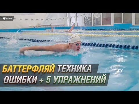 Баттерфляй. Техника плавания баттерфляем, ошибки, 5 упражнений для плавания дельфином. #ПЛАВАНИЕ