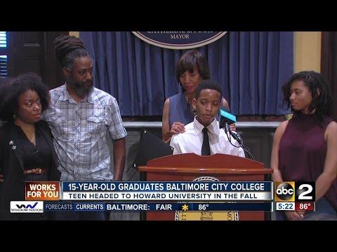 15-year-old graduates Baltimore City College