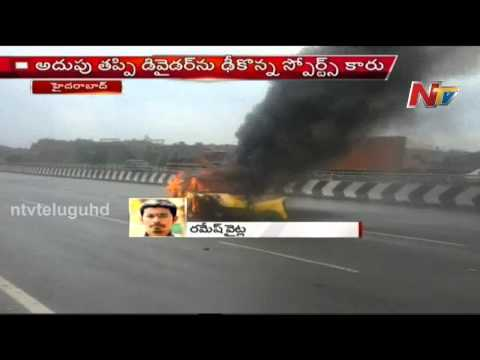 Hyderabad Outer Ring Road Sports Car Racing Accident, 1 Injured