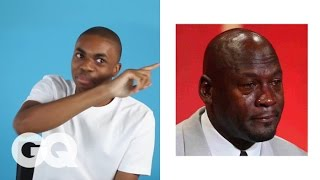 Vince Staples Reviews Every F**king Twitter Meme (Including Crying Jordan) | GQ