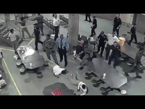Prison brawl sends inmates, deputies to hospital