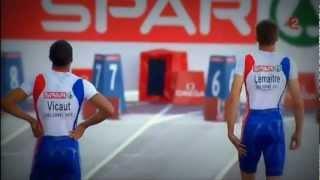 Championnat d'Europe d'Athlétisme 2012 - (Lemaître-Vicaut) 100m