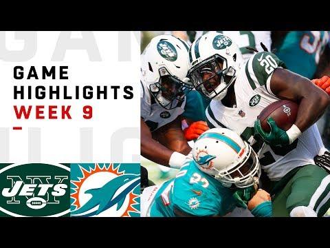 Jets vs. Dolphins Week 9 Highlights | NFL 2018
