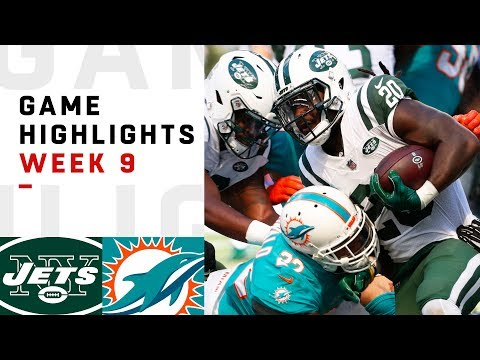 Jets vs Dolphins Week 9 Highlights  NFL 2018