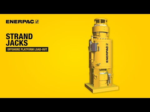 Offshore Platform Load-out with Strand Jacks | Enerpac Heavy Lifting Technology