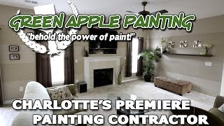 Charlotte NC Painter Muralist Faux Finishes Green Apple Painting