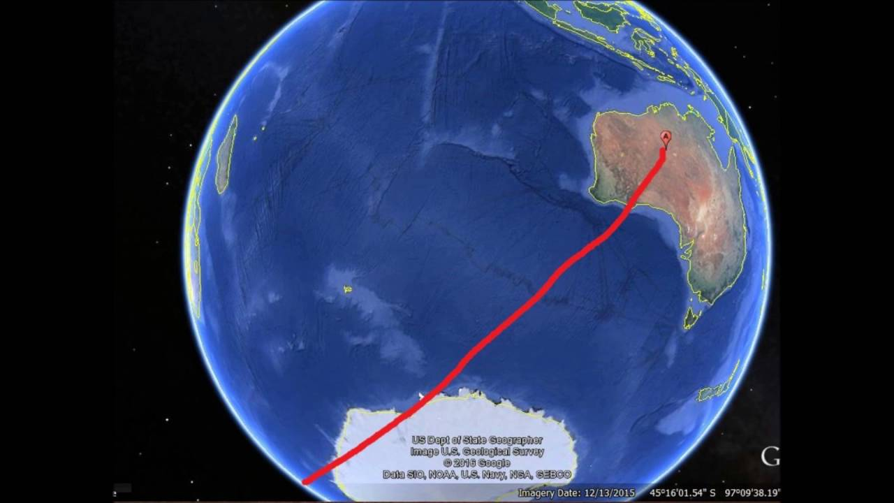 There Are NO Flights Over Antarctica Period YouTube - Earth map show airplane travell from us to austrialia