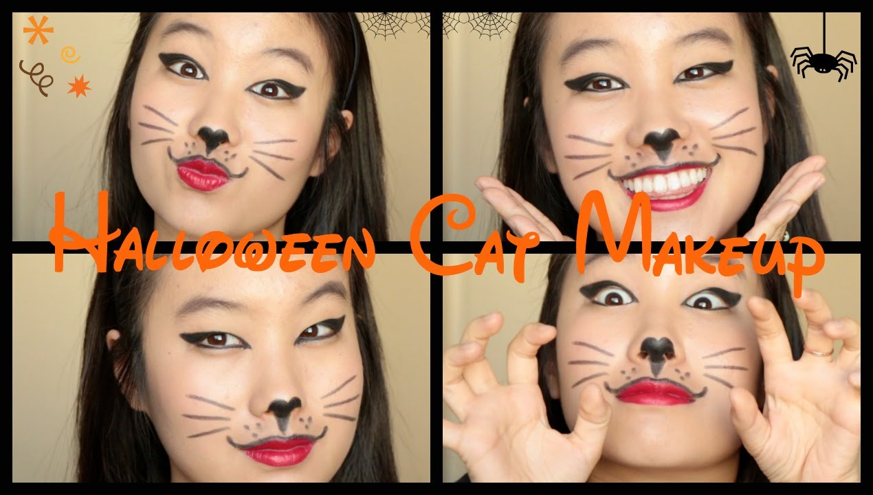 easy halloween cat makeup tutorial youtube. Black Bedroom Furniture Sets. Home Design Ideas